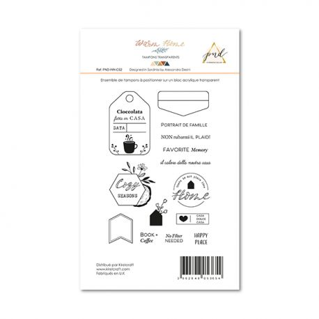 Tampon Clear Papernova Design Collection Warm home - 2