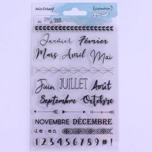 Tampons clear Diy & Cie - Calendrier (31 tampons)