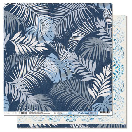Papier 30.5 x 30.5 cm Les Ateliers de Karine Collection Blue Batik - 4