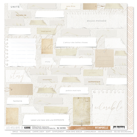 Papier 30.5 x 30.5 cm Les Ateliers de Karine Collection Intemporelle - 6