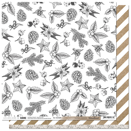 Papier 30.5 x 30.5 cm Les Ateliers de Karine Collection Woodland - 4
