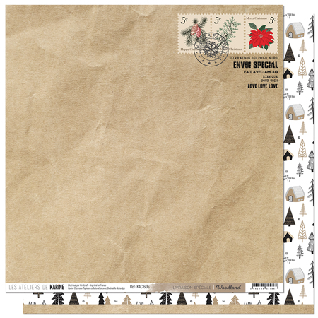 Papier 30.5 x 30.5 cm Les Ateliers de Karine Collection Woodland - 6