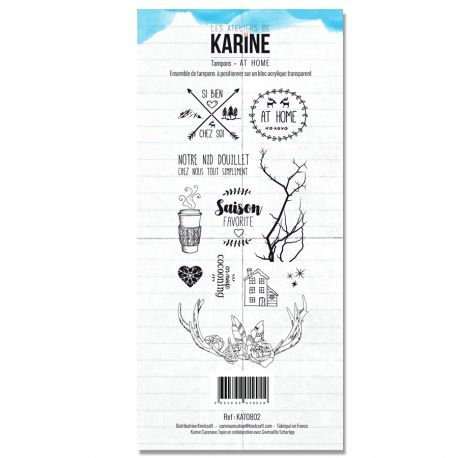 Tampon Clear Les Ateliers de Karine Collection Douceur hivernale - At home