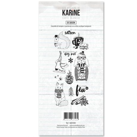 Tampon Clear Les Ateliers de Karine Collection Carte Blanche - De saison