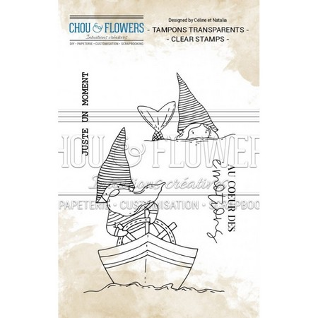 Tampon clear Chou & Flowers Collection Voyage imaginaire - Les gnomes marins 7,5 x 10,5 cm