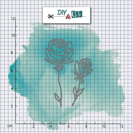 Matrice de coupe Diy & Cie - Roses