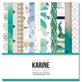 Kit papierS 30.5 x 30.5 cm Les Ateliers de Karine Collection Green & Graphik