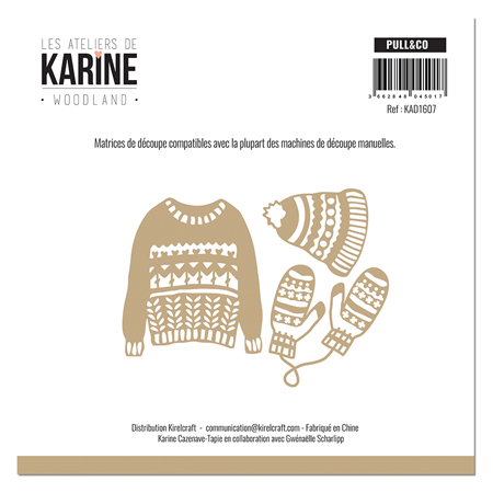 Matrice de coupe Les Ateliers de Karine Collection Woodland - Pull & Co