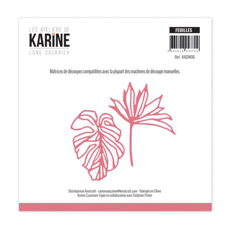 Matrice de coupe Les Ateliers de Karine Collection Long courrier - Feuilles