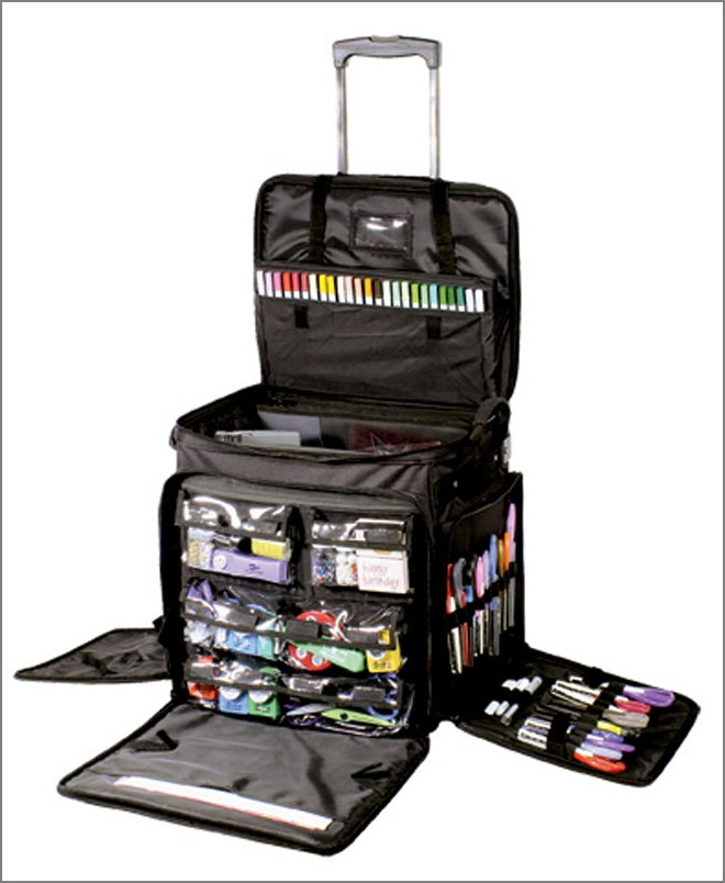 valise de rangement scrapbooking cropping style tim holtz. Black Bedroom Furniture Sets. Home Design Ideas