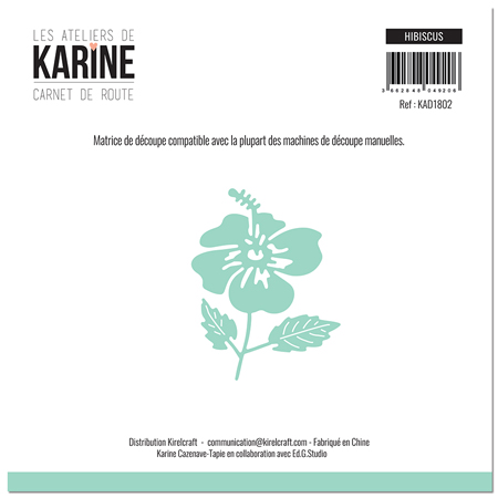 Matrice de coupe Les Ateliers de Karine Collection Carnet de Route - Hibiscus