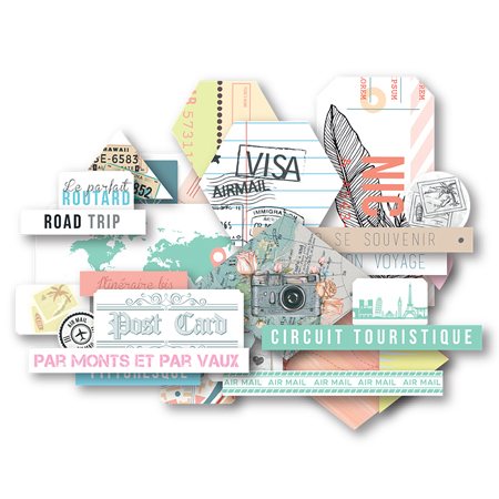 Die cuts 10 x 15 Les Ateliers de Karine Collection Carnet de Route