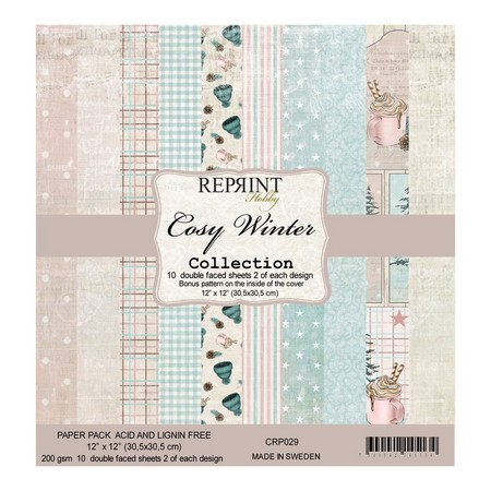 Pack papiers R/V 30.5 x 30.5 cm Reprint Collection Cosy winter