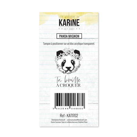 Tampon Clear Les Ateliers de Karine Collection Hey Baby - Panda