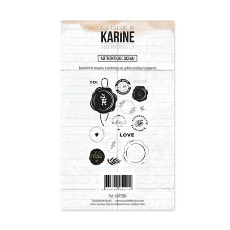 Tampon Clear Les Ateliers de Karine Collection Intemporelle - Sceau