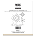 Pochoir broderie Les Ateliers de Karine Collection Woodland - Flocons graphiques