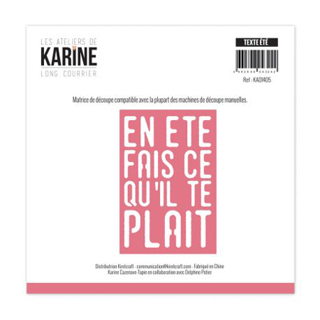 Matrice de coupe Les Ateliers de Karine Collection Long courrier - Teste d'été