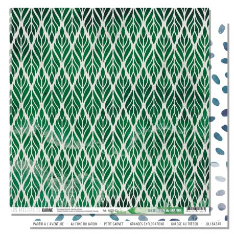 Papier 30.5 x 30.5 cm Les Ateliers de Karine Collection Green & Graphik - 2