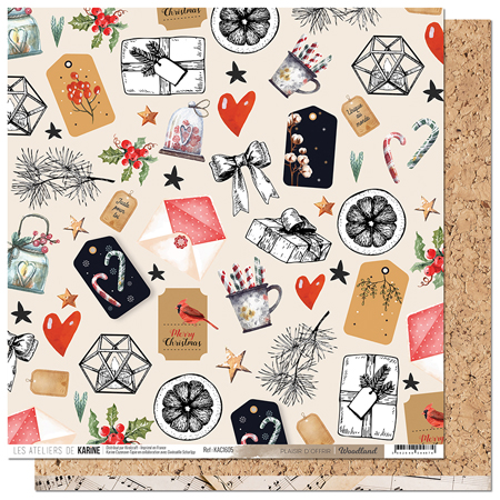 Papier 30.5 x 30.5 cm Les Ateliers de Karine Collection Woodland - 5