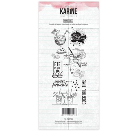 Tampon Clear Les Ateliers de Karine Collection Long courrier - Coktail