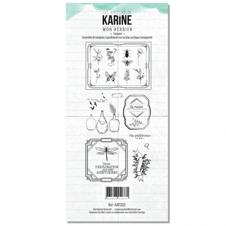 Tampon Clear Les Ateliers de Karine Collection Green & Graphik - Mon herbier