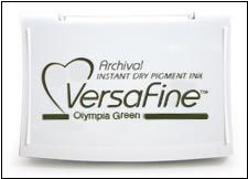 Versafine encreur 6,5 x 9 cm couleur Olympic green